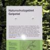 Eine der neuen Info-Stelen im Naturschutzgebiet Gelpetal