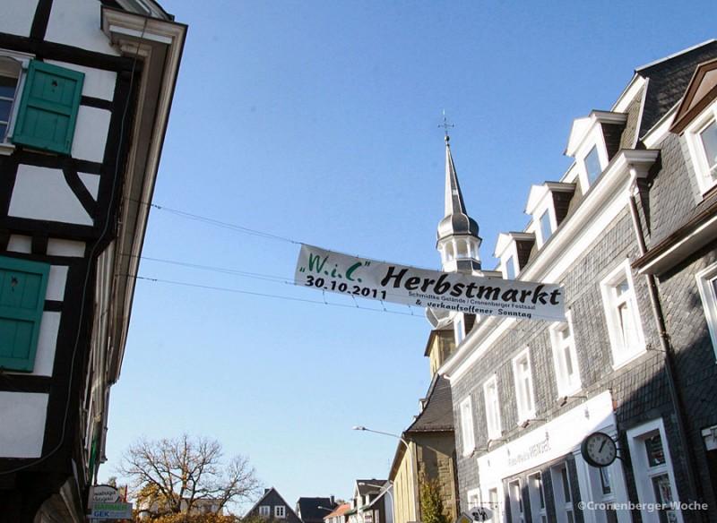 cronenberger woche verkaufsoffener wic sonntag herbstmarkt. Black Bedroom Furniture Sets. Home Design Ideas