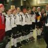DRIV-Vorsitzender Jacques Casez (re.) ist stolz auf die deutsche Rollhockey-Nationalmannschaft der Damen, die EM-Bronze gewinnen konnte.