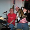 """Das Duo """"Stookiesen"""" sorgte für närrische Party-Stimmung in der Sudberger Kult-Kneipe """"Odenwaldhaus""""."""