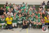 Ausgelassener Jubel in Hamm: Mit einem Sieg im zweiten Finale bei Germania Heringen holten die RSC-Löwen den Pokalsieg 2015 trotz Niederlage daheim doch noch ins Dorf.