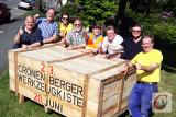 """Allen Grund für ein vielfaches """"Daumen hoch"""": die Organisatoren der Cronenberger Werkzeugkiste."""