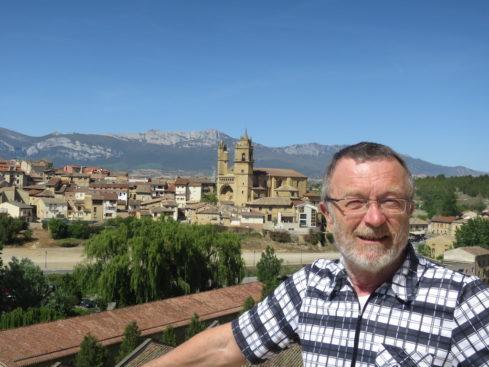 Reinhold Spielberger bei seinem zweitägigen Zwischenstopp in Nord-Spanien. -Foto: privat.