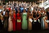 Die Absolventen der Ronsdorfer Erich-Fried-Gesamtschule feierten ihren Abil-Ball in der Schul-Aula an der Blutfinke. -Foto: privat