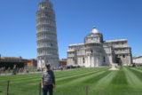 Der Turm zu Pisa ist zwar schief, aber steht immer noch hoch, während Reinhold Spielberger Tour-Bart in die Tiefe wächst… -Foto: privat