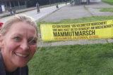 """""""…und was hast du so gemacht am Wochenende…?"""": Jeanette Zimmermann erschöpft, aber glücklich nach dem """"Mammutmarsch NRW"""". -Foto: privat"""