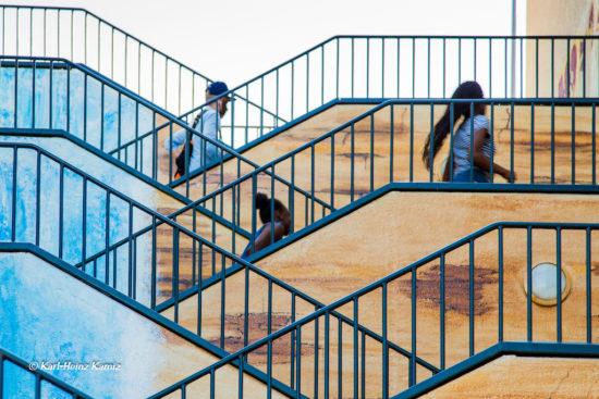 Karl-Heinz Kamiz' ausgezeichnetes Bild der Kluse-Treppe im Rahmen des Wuppertaler Foto-Preises.