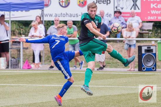 Auch gegen den SV Jägerhaus-Linde verteidigte der Cronenberger SC gut. – Foto: Marcus Müller