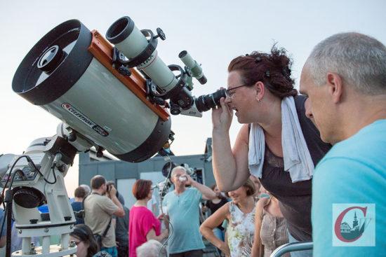 Mit dem Teleskop gab es viel in der Ferne zu entdecken. – Foto: Marcus Müller