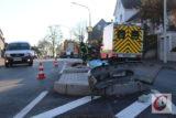 Die Unfallstelle auf der Berghauser Straße. – Foto: Marcus Müller