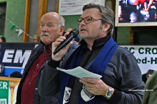SSV-Vorsitzender Günter Willms (li.) mit Udo Hinsche vom SSV-Ältestenrat, der auch diesmal moderierte. -Foto: Odette Karbach