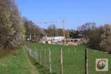 Direkt neben der Station Natur und Umwelt läuft nach jahrelangen Planungen der Bau des Deutsch-Französischen Kindergartens. -Foto: Meinhard Koke