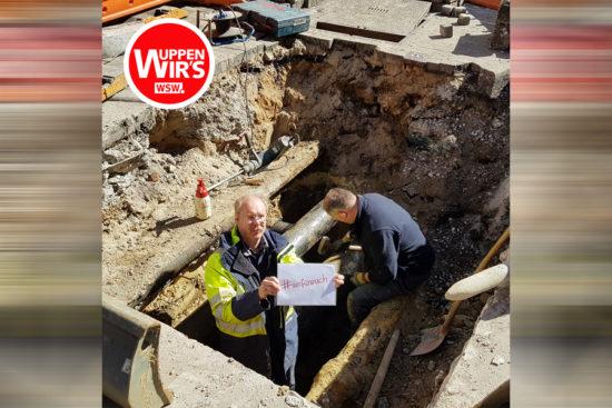 Er steht zwar in der Grube, Kurt fällt aber in kein Corona-Loch… | Foto: WSW