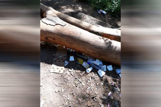 Zudem hinterließen die Teilnehmer des Treffens auch jede Menge Müll im Wald. | Foto: privat