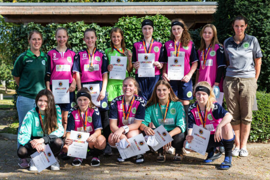 Die weibliche U17 des RSC Cronenberg holte bei der Deutschen Rollhockey-Meisterschaft 2020 Silber ins Dorf. | Foto: privat