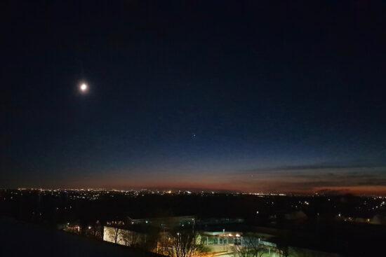 Vor 2.027 Jahren leuchtete der Weihnachtsstern über Bethlehem, in diesen Tagen strahlt er (auch) über dem Sportzentrum Süd… | Foto: CFG